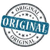 Oryginalny niebieski nieczysty pieczęć na białym tle okrągły — Zdjęcie stockowe