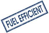 Combustible eficiente azul cuadrada grungy sello aislado sobre fondo blanco — Foto de Stock