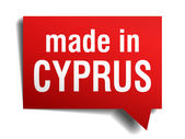 Beyaz arka plan üzerinde izole kırmızı 3d gerçekçi konuşma balonu kıbrıs'ta yapılan — Stok Vektör