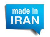 Iran mavi 3d gerçekçi konuşma balonu izole beyaz zemin üzerine yapılan — Stok Vektör