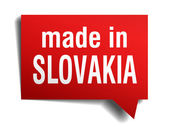 Made in Slovakia red  3d realistic speech bubble isolated on white background — Stockvector
