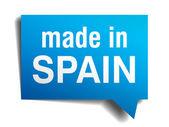 İspanya mavi 3d gerçekçi konuşma balonu izole beyaz zemin üzerine yapılan — Stok Vektör
