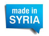 Suriye mavi 3d gerçekçi konuşma balonu izole beyaz zemin üzerine yapılan — Stok Vektör