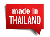 Beyaz arka plan üzerinde izole kırmızı 3d gerçekçi konuşma balonu tayland'da yapılan — Stok Vektör