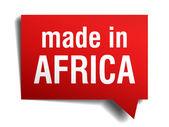 V africe červené 3d realistických řeč bublina izolovaných na bílém pozadí — Stock vektor