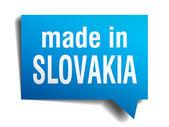 Feito na eslováquia azul 3d realista balão isolado no fundo branco — Vetorial Stock