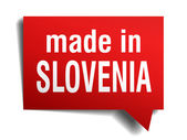 Made in Slovenia red  3d realistic speech bubble isolated on white background — Stockvektor