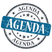 Agenda blue grunge textured vintage isolated stamp — Stock Photo
