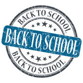 Back to school blue grunge textured vintage isolated stamp — Stock Photo