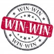 Win - win red grunge textured vintage isolated stamp — Stock Photo #48094275