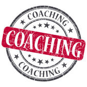 Coaching red grunge textured vintage isolated stamp — Stock Photo