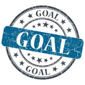 Goal blue grunge textured vintage isolated stamp — Stock Photo