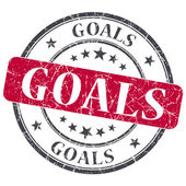 Goals red grunge textured vintage isolated stamp — Stock Photo