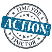 Time for action blue grunge textured vintage isolated stamp — Stock Photo
