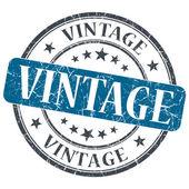 Vintage blue grunge textured vintage isolated stamp — Stock Photo