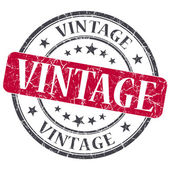 Vintage red grunge textured vintage isolated stamp — Stock Photo