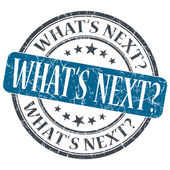 What's next blue grunge textured vintage isolated stamp — Stock Photo