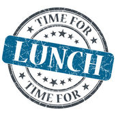 Time for lunch blue grunge textured vintage isolated stamp — Stock Photo