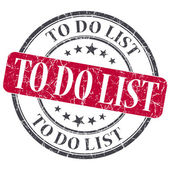 To do list red grunge textured vintage isolated stamp — Stock Photo