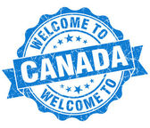Welcome to Canada blue grungy vintage isolated seal — Stock Photo