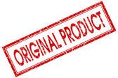 Original produto praça vermelha grungy selo isolado no fundo branco — Fotografia Stock