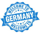 Welcome to Germany blue grungy vintage isolated seal — Foto Stock