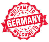 Welcome to Germany red grungy vintage isolated seal — Foto Stock