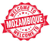 Welcome to Mozambique red grungy vintage isolated seal — Stock Photo