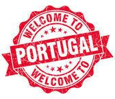 Welcome to Portugal red grungy vintage isolated seal — Foto Stock