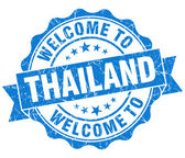Welcome to Thailand blue grungy vintage isolated seal — Stock Photo