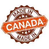 Made in Canada vintage stamp isolated on white background — Stock Vector