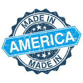Made in America vintage stamp isolated on white background — Stock Vector