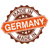 Made in Germany vintage stamp isolated on white background — Vettoriale Stock