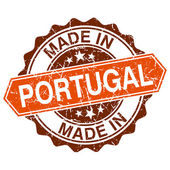 Made in Portugal vintage stamp isolated on white background — Vettoriale Stock
