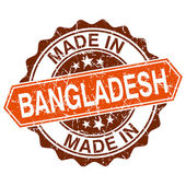 Made in Bangladesh vintage stamp isolated on white background — Vector de stock