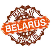 Made in Belarus vintage stamp isolated on white background — Vector de stock