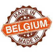 Vyrobené v belgii vinobraní razítko izolovaných na bílém pozadí — Stock vektor