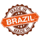 Made in Brazil vintage stamp isolated on white background — Stockvektor