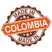 Made in Colombia vintage stamp isolated on white background — 图库矢量图片