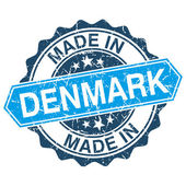Made in Denmark vintage stamp isolated on white background — ストックベクタ