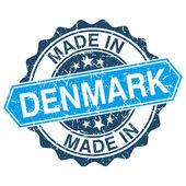 Gemaakt in Denemarken vintage stempel geïsoleerd op witte achtergrond — Stockvector