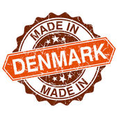 Made in Denmark vintage stamp isolated on white background — Wektor stockowy