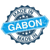 Made in Gabon vintage stamp isolated on white background — Stock Vector
