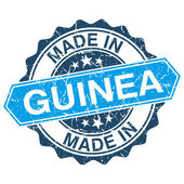 Made in Guinea vintage stamp isolated on white background — Stok Vektör