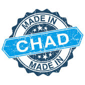 Made in Chad vintage stamp isolated on white background — Vector de stock