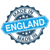 Made in England vintage stamp isolated on white background — Vector de stock
