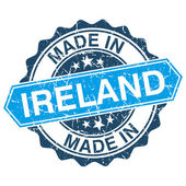 Made in Ireland vintage stamp isolated on white background — Vector de stock