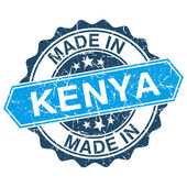 Made in Kenya vintage stamp isolated on white background — Stok Vektör