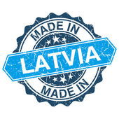 Made in Latvia vintage stamp isolated on white background — Vector de stock