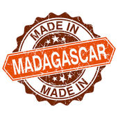 Made in Madagascar vintage stamp isolated on white background — Vector de stock